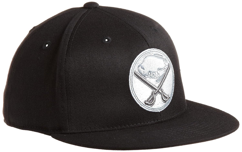 98e0b0b68e2 Amazon.com   NHL Buffalo Sabres Game Day Black Pro Shape Flat Brim Flex Cap-  Tx79Z