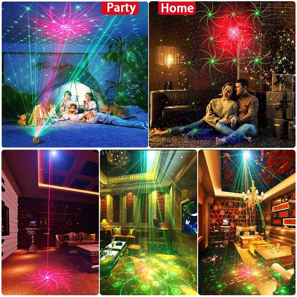 Party Lights Disco Lights GOOLIGHT DJ Light Sound Activated Strobe Light Projector Party Light Effects with Remote Control for Home Room Dance Birthday Bar Karaoke Holiday Christmas Wedding Parties