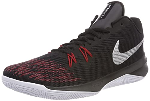 Nike Zoom Evidence II, Scarpe da Basket Uomo, Nero (Blackmetallic Silveruniversity 006), 44 EU