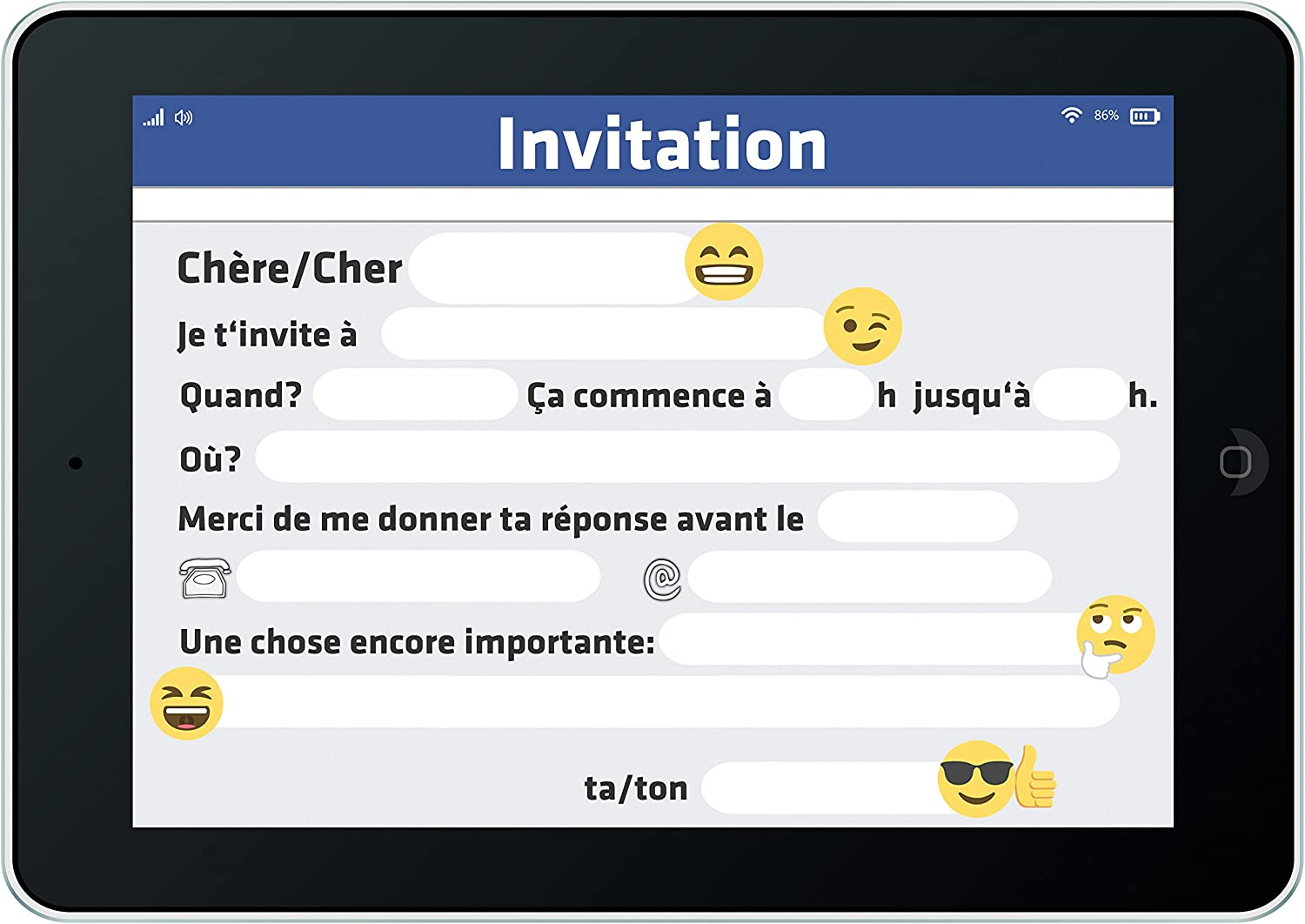 Jeux Et Jouets Invitations 12 Cartes Dinvitation Anniversaire Enfant Smiley Cartes Invitations Filles Garcons Enfants Carte Invitation Fete De Emoji Assortiment De Cartes Anniversaire