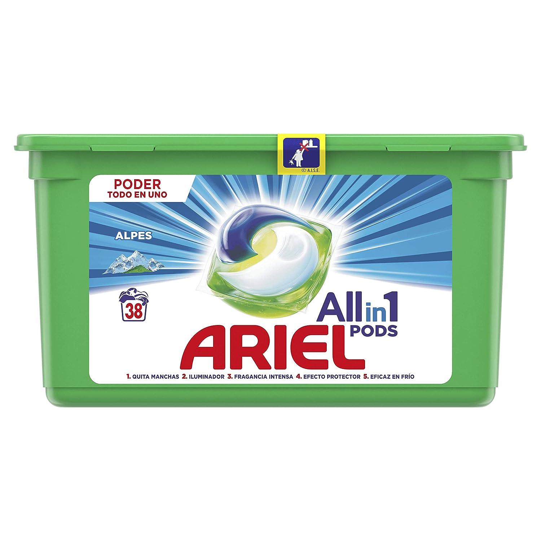 Ariel Todo en Uno Pods, Frescor de Los Alpes Detergente en ...