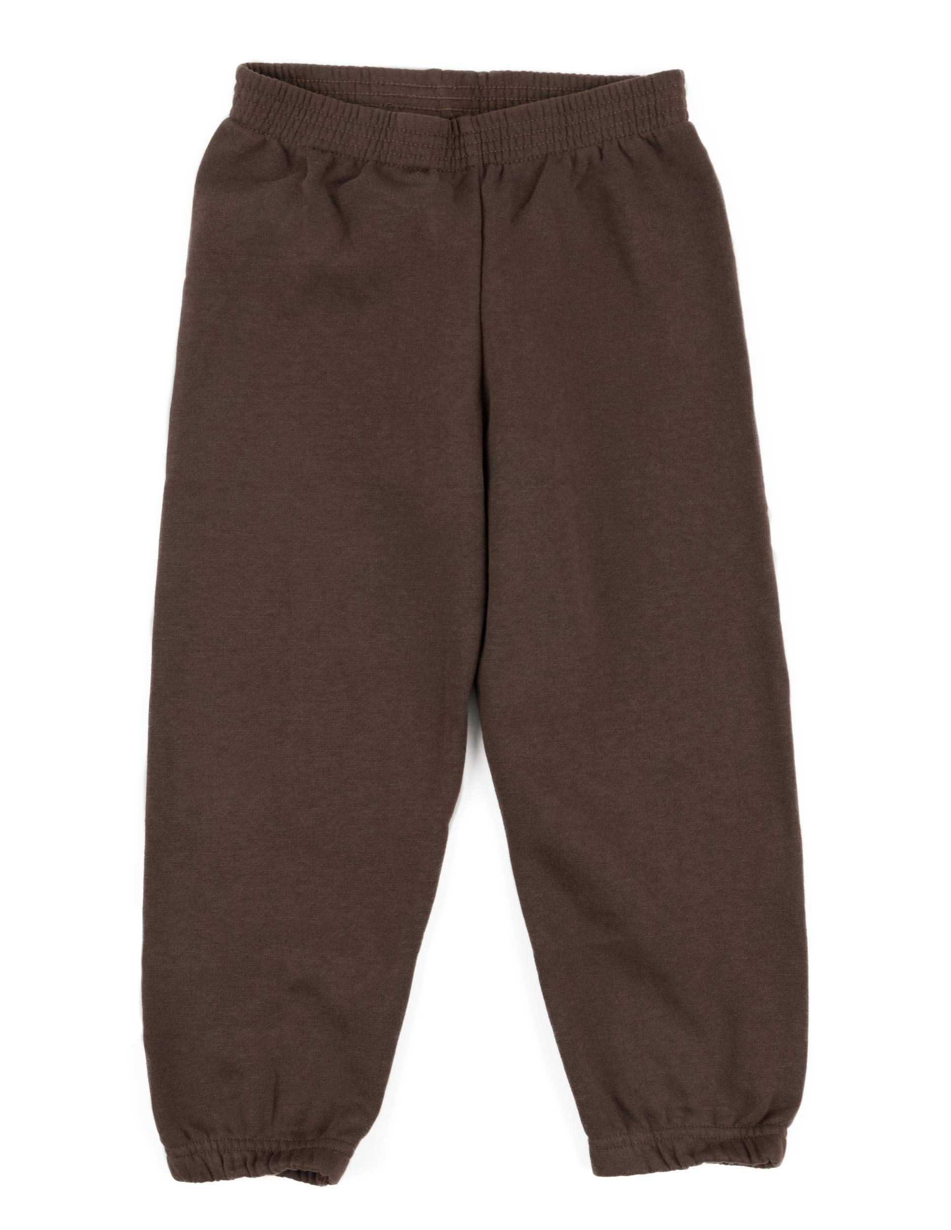 Leveret Kids Boys Sweatpants Brown Size 6 Years