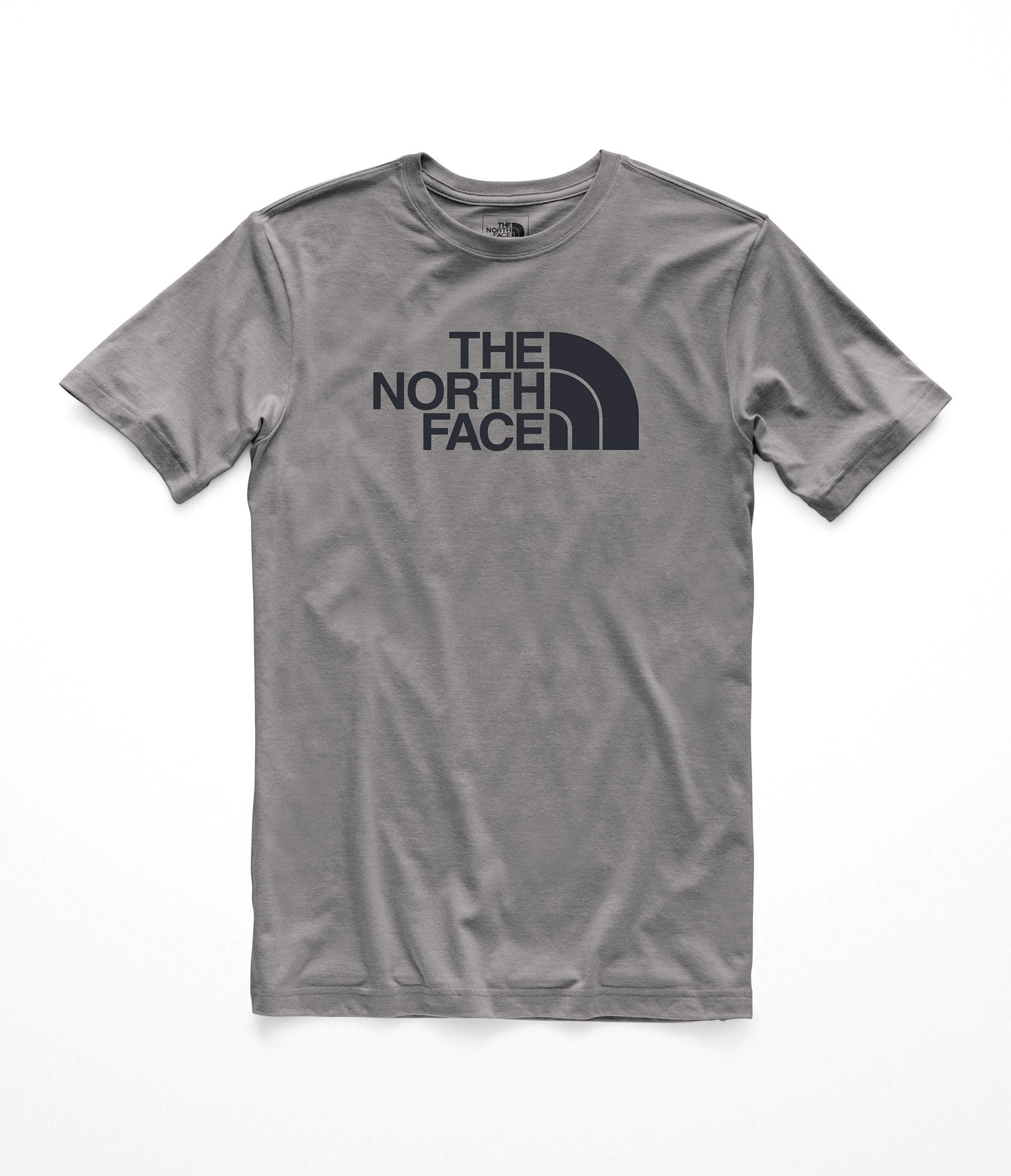 The North Face Mens S/S Half Dome Tri-Blend Tee - TNF Mid Grey Heather & Asphalt Grey - M