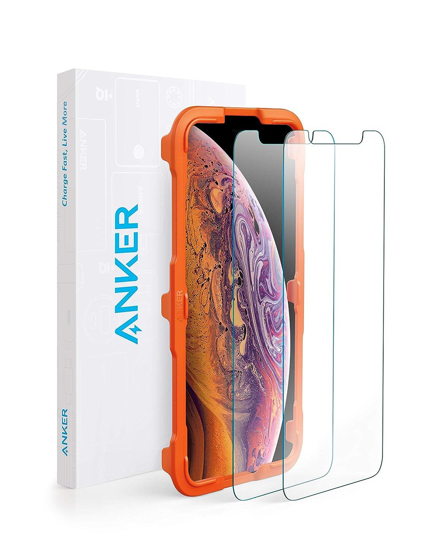【2枚セット / 専用フレーム付属】Anker GlassGuard iPhone XS Max用
