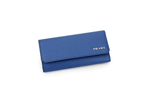 0fa5db2c2a15 coupon code for prada saffiano leather key holder wallet azzurro royal blue  c2aae 03fb9