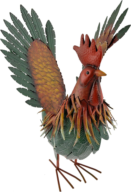 Juego de 4/Metal interior exterior gallo Gallo pollo jard/ín decoraci/ón