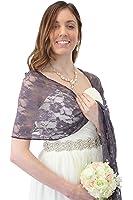 Purple Lace Bridal Wrap Wedding Stole