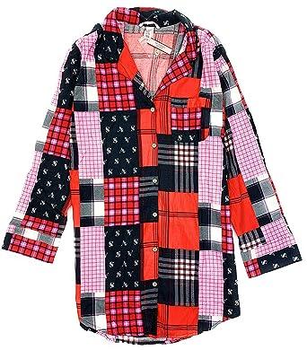 c28b02afd1bdd Victoria's Secret Women's Flannel Cotton/Modal Sleepshirt Pajamas at ...
