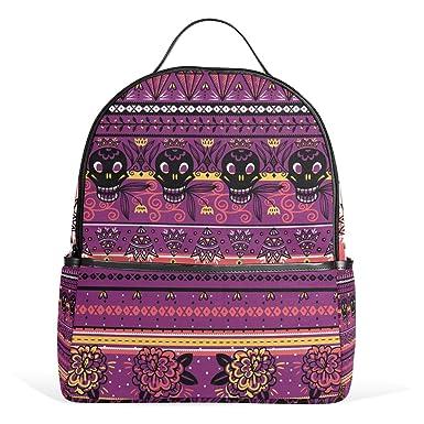 Cooper girl Vintage Rose Skull Travel Backpack Camping Backpack for Boys  and Girls 6e6617e782