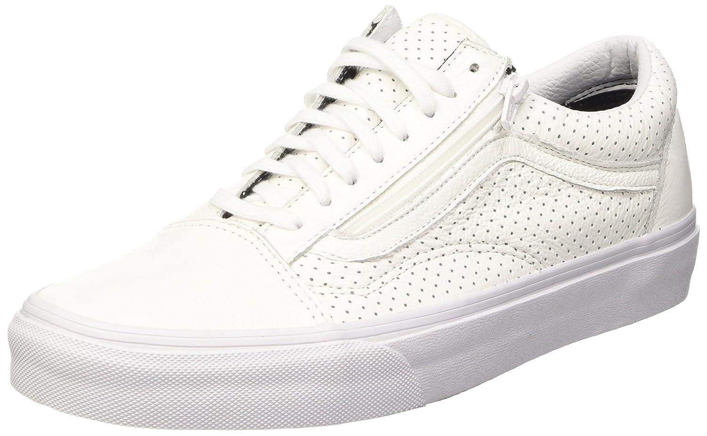 Vans Unisex-Erwachsene Old Skool Zip Low-Top  36.5 EU Wei? (Perf Leather/True White)