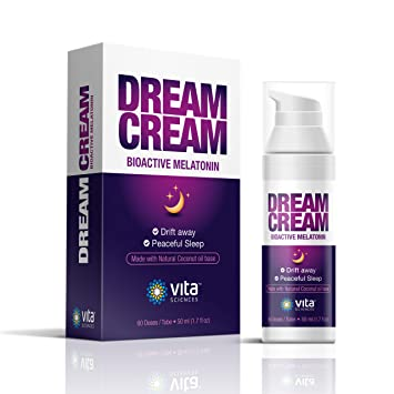 Melatonin Cream for Your Dream Sleep - Super Convenient Way to Use Each Pump is 3mg