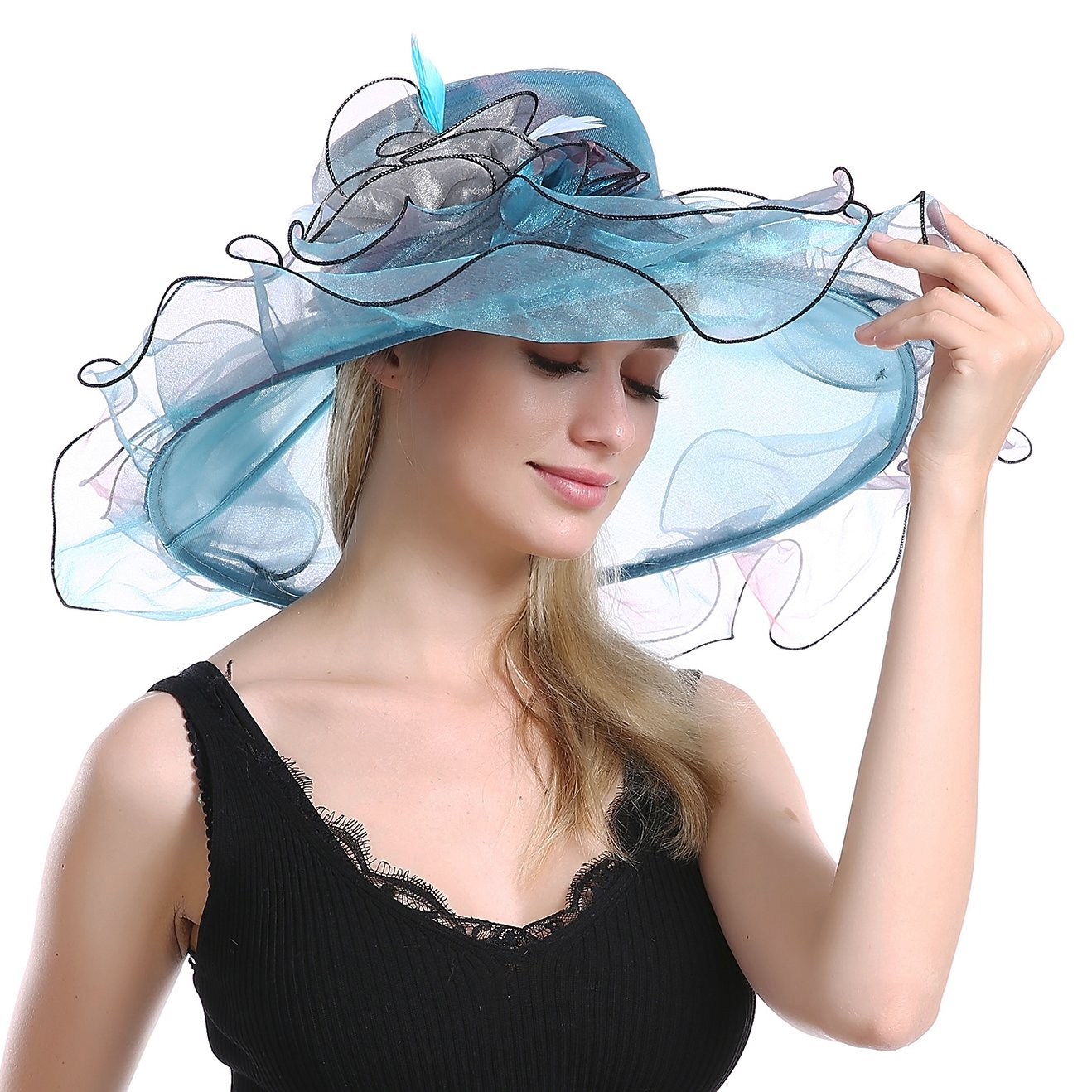 3955e02ab46f0 This fabulous wide brim hat has a brim that is 5 inchs all the way  around