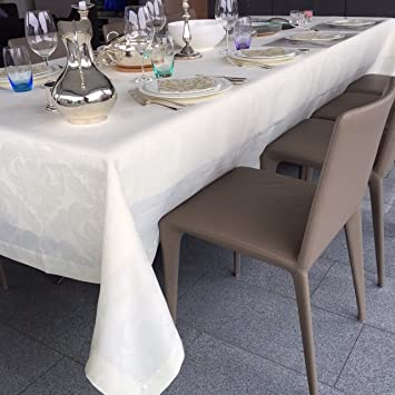 Easy Care Linen Tablecloth The U0027Istanbulu0027 Table Cloth   Luxury Table Linens  Round