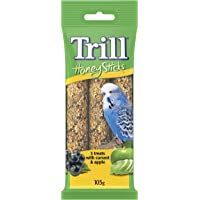 TRILL 23845 Honeystick for Budgies, 3 Pack, 105g