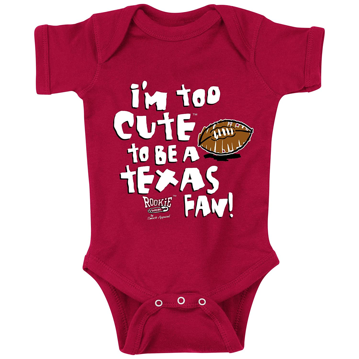 7T Oklahoma Sooners Fans Too Cute to Be a Longhorns Fan Cardinal Onesie and Toddler Tee