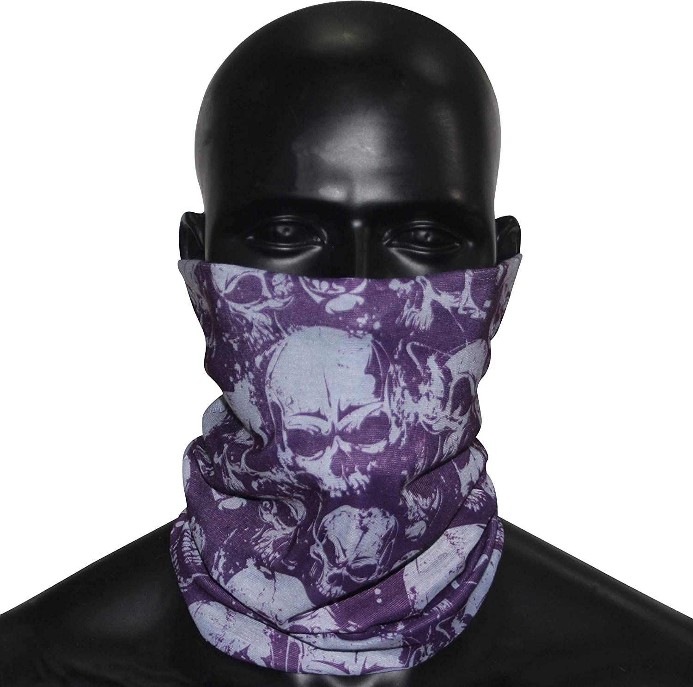 Unisex Face Bandanas Balaclava Scarf Novelty Stretchable Headbands Wind//Sun//UV Protection BINACL Neck Gaiter 4//5//6 Packs