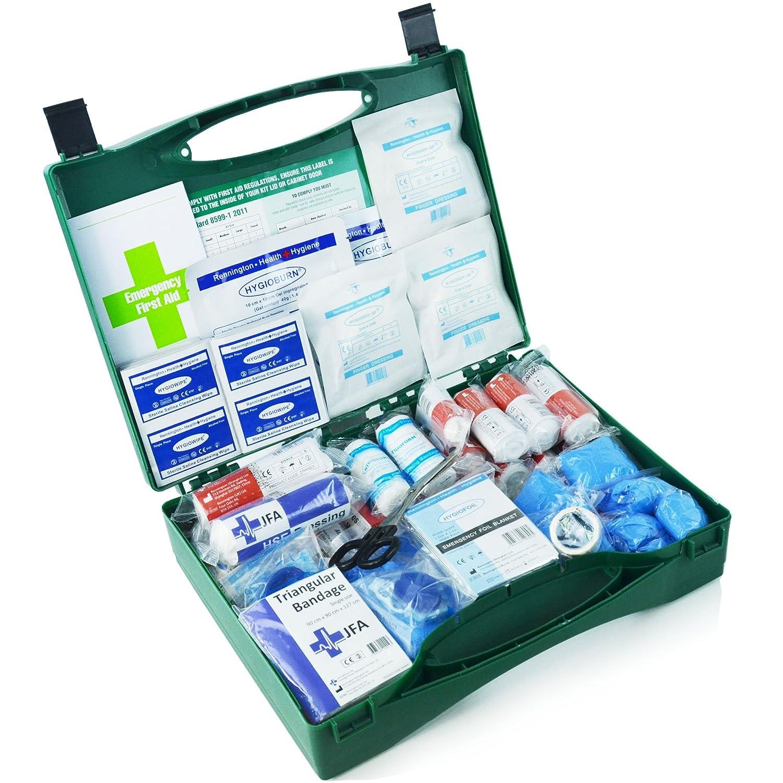 210 Stü ck Premium Erste-Hilfe-Set inklusive Brennen Gel Dressings, Wiederbelebung Face Shield, Notfall Folie Decke und robust Schnitt Scheren (BSI groß ) JFA Medical
