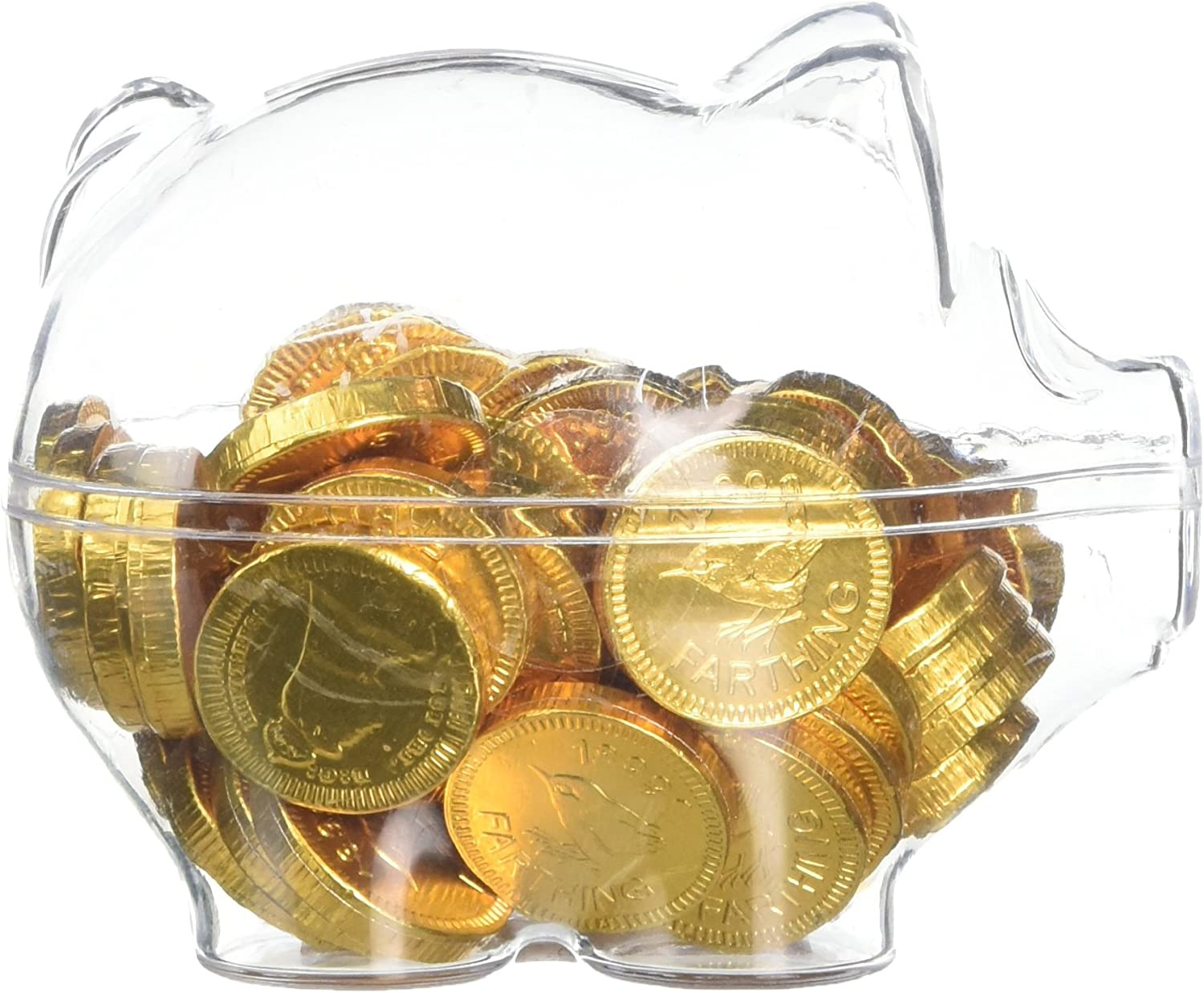 Sweet Boutique Piggy Bank of Gold Chocolate Coins 90 g (Pack