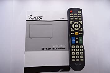 amazon com avera 55aer10 tv remote control and user s manual 20593 rh amazon com Samsung Smart TV Remote Manual Samsung TV Replacement Parts Manual