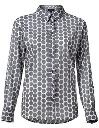 af9f80586ff FLAMJASM Womens Summer Casual Long Sleeve Blouse Button-Down Shirts Tunic  Blouses 100% Cotton