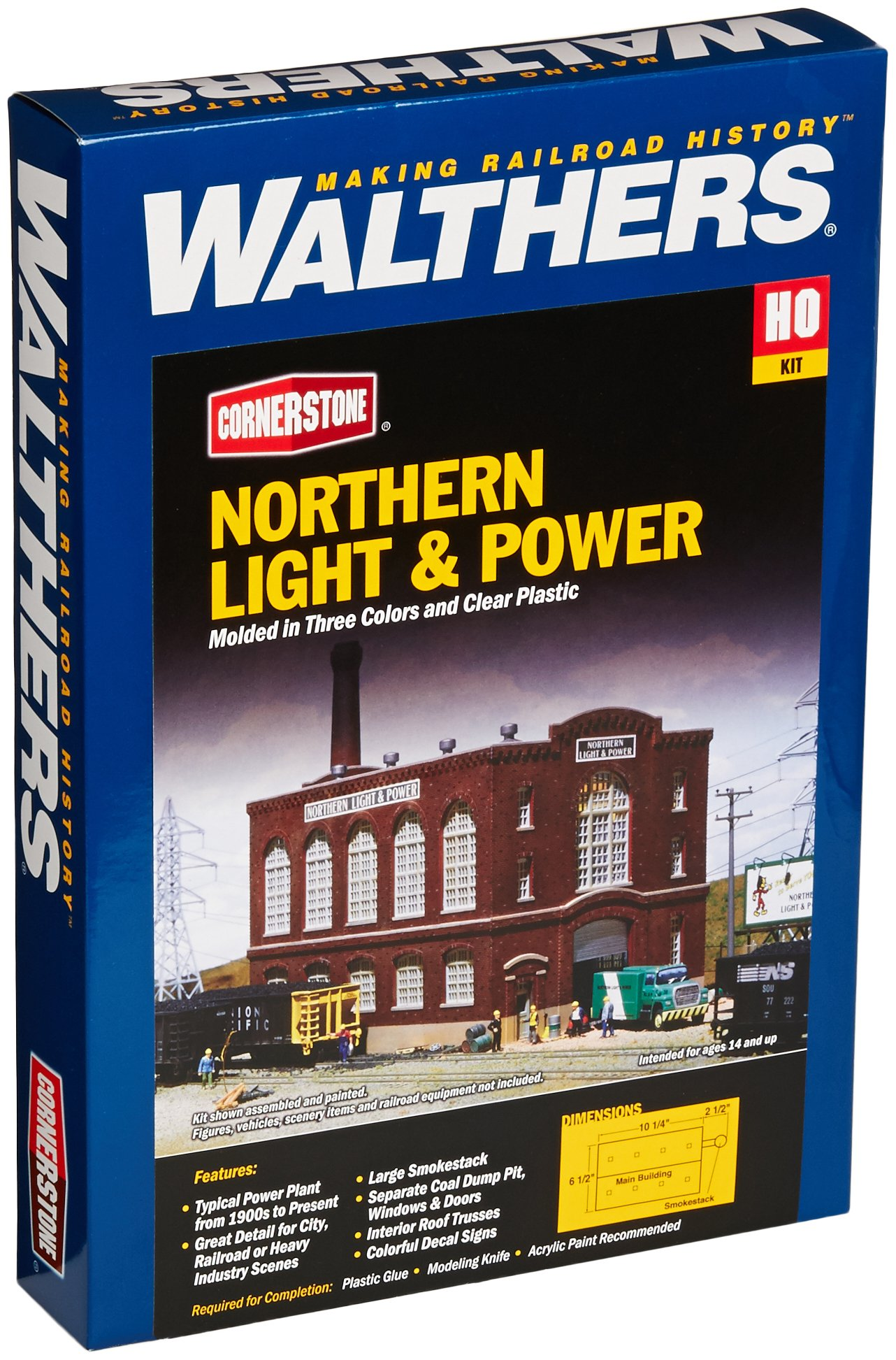 Walthers Cornerstone HO Scale Northern Light and Powerhouse Structure Kit