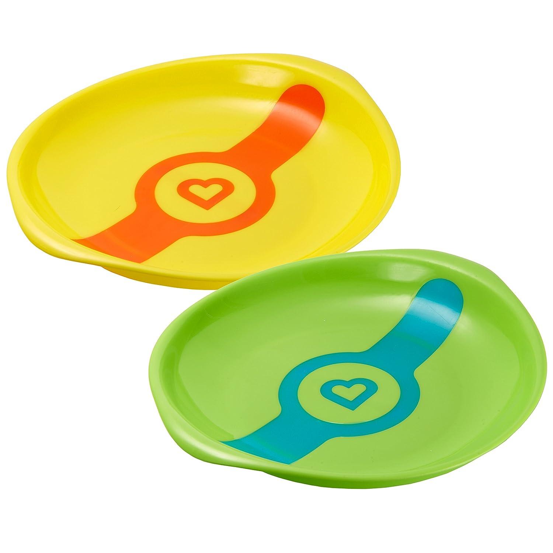 Munchkin White Hot Toddler Plates Red Yellow Green Blue
