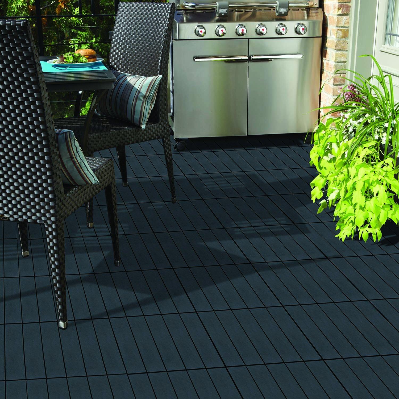 and patio floor organization deck in wayfair storage pdx x black blocktile flooring tile