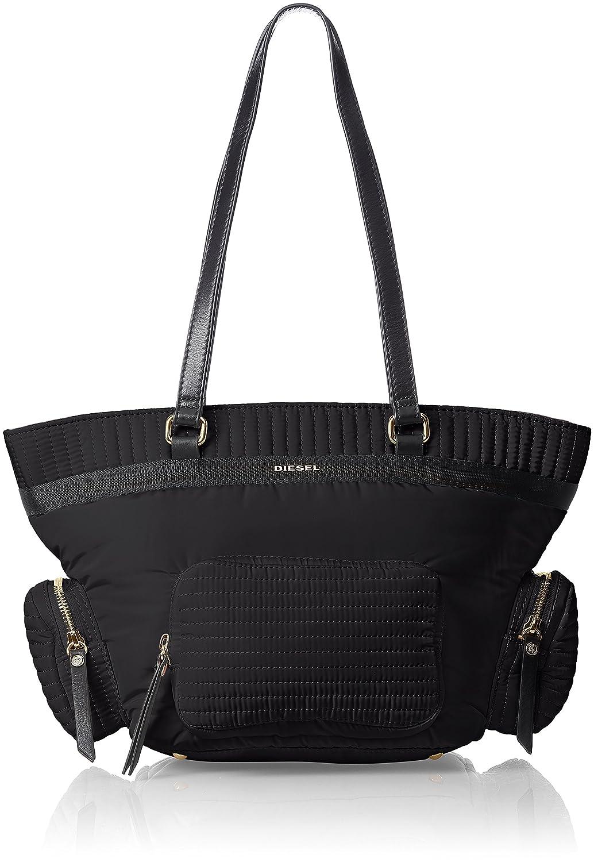 (ディーゼル) DIESELレディース ナイロントートバッグ COMBAT POCK POCK-TOTE shopping bag B073ZYMNDKブラック UNI
