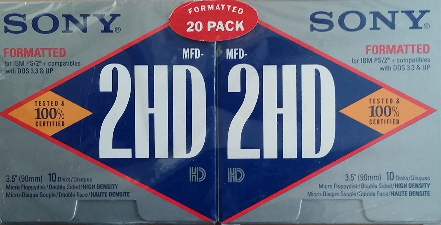20 Pack Sony 3.5 MFD-2HD Formatted Diskettes