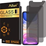 Ailun Privacy Screen Protector Compatible for iPhone 11/iPhone XR 6.1Inch 2 Pack Japanese Glass 0.25mm Anti Spy Tempered…