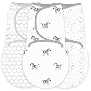 Amazing Baby Swaddle Blanket with Adjustable Wrap, Set of 3, Zebra, Confetti and Lattice, Sterling, Small