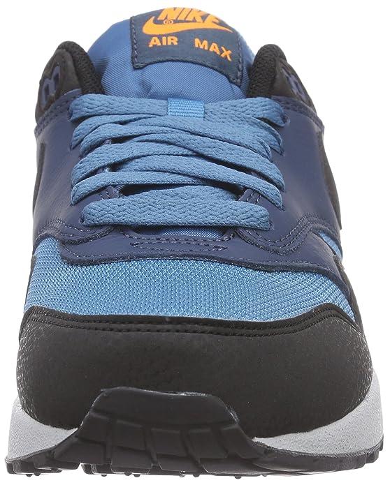 online store c3fdf 978bd Amazon.com   Nike Men s Air Max 1 Essential Stratus Blue Grey Black  537383-402   Road Running
