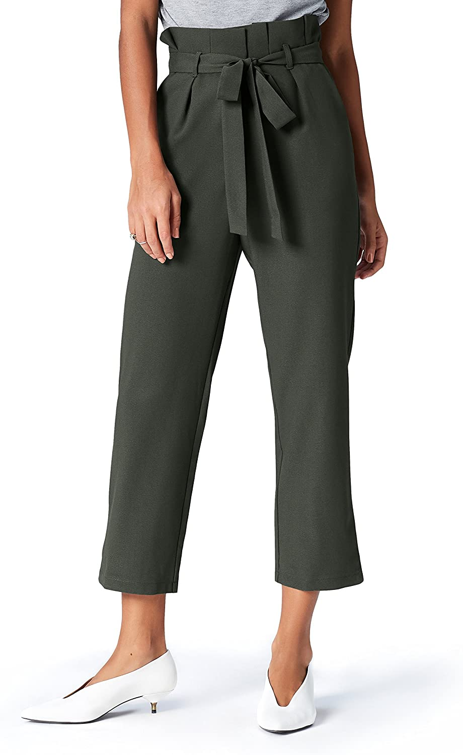 Marca Amazon - find. Paperbag Waist_AN5488 - Pantalones Mujer