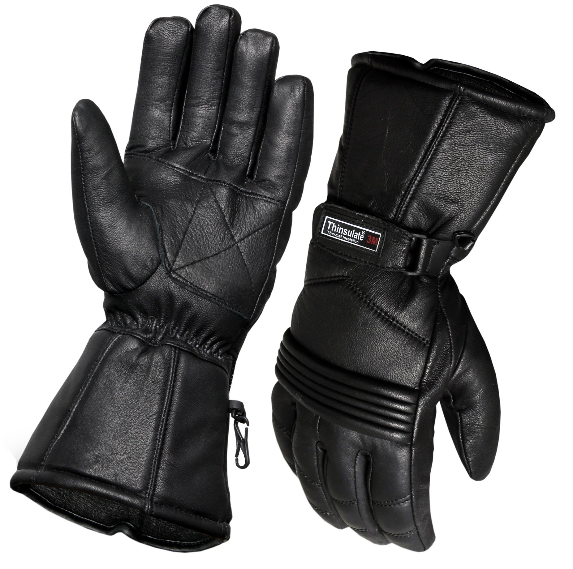 Thermal Motorbike Motorcycle Leather Gloves Waterproof Protection Winter Summer (S)