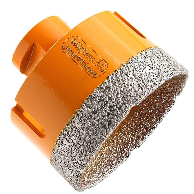 Granit Feinsteinzeug Naturstein HOBBYPOWER24 Premium Diamantbohrkrone 55mm M14 passend f/ür Winkelschleifer Flex Fliesenbohrer Diamantbohrer f/ür Fliesen Marmor