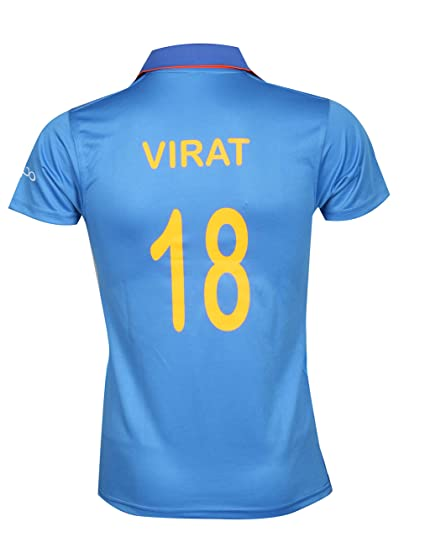 Kd Team India Odi Cricket Supporter Oppo Jersey 2018 2019 Kids To Adult