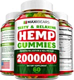 MAXIBEARS Hemp Gummies 2,000,000 - Promotes Relaxation & Healthy Sleep - Stress, Insomnia & Anxiety Relief - Made in USA…