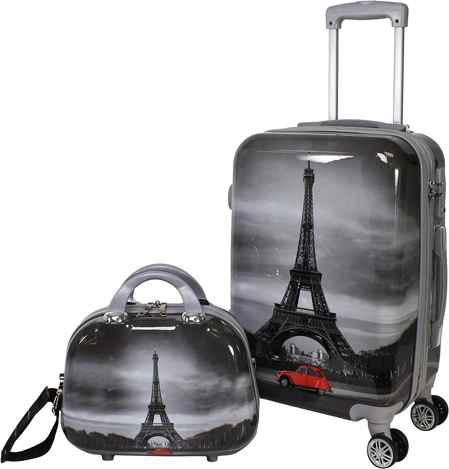 World Traveler Destination Collection 2-Piece Carry-On Luggage Set, Paris