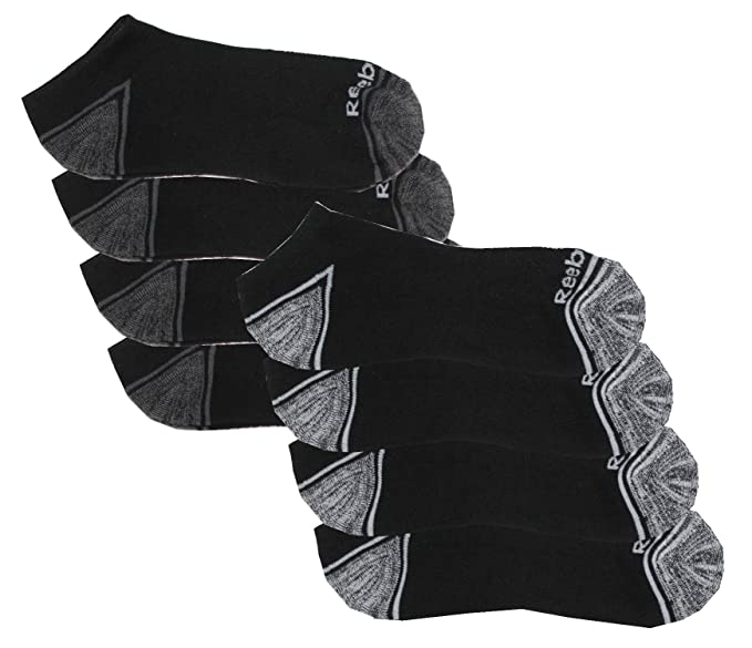 0949985cffe Amazon.com  Reebok Men s 8 Pack Low Cut Performance Socks (Black)  Sports    Outdoors