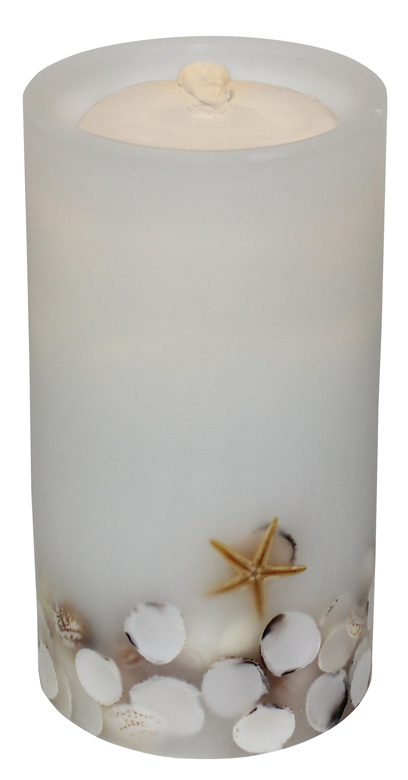 Bethlehem Lighting GKI AQUAFLAME White Seashell Flameless Candle/Fountain by Bethlehem Lighting