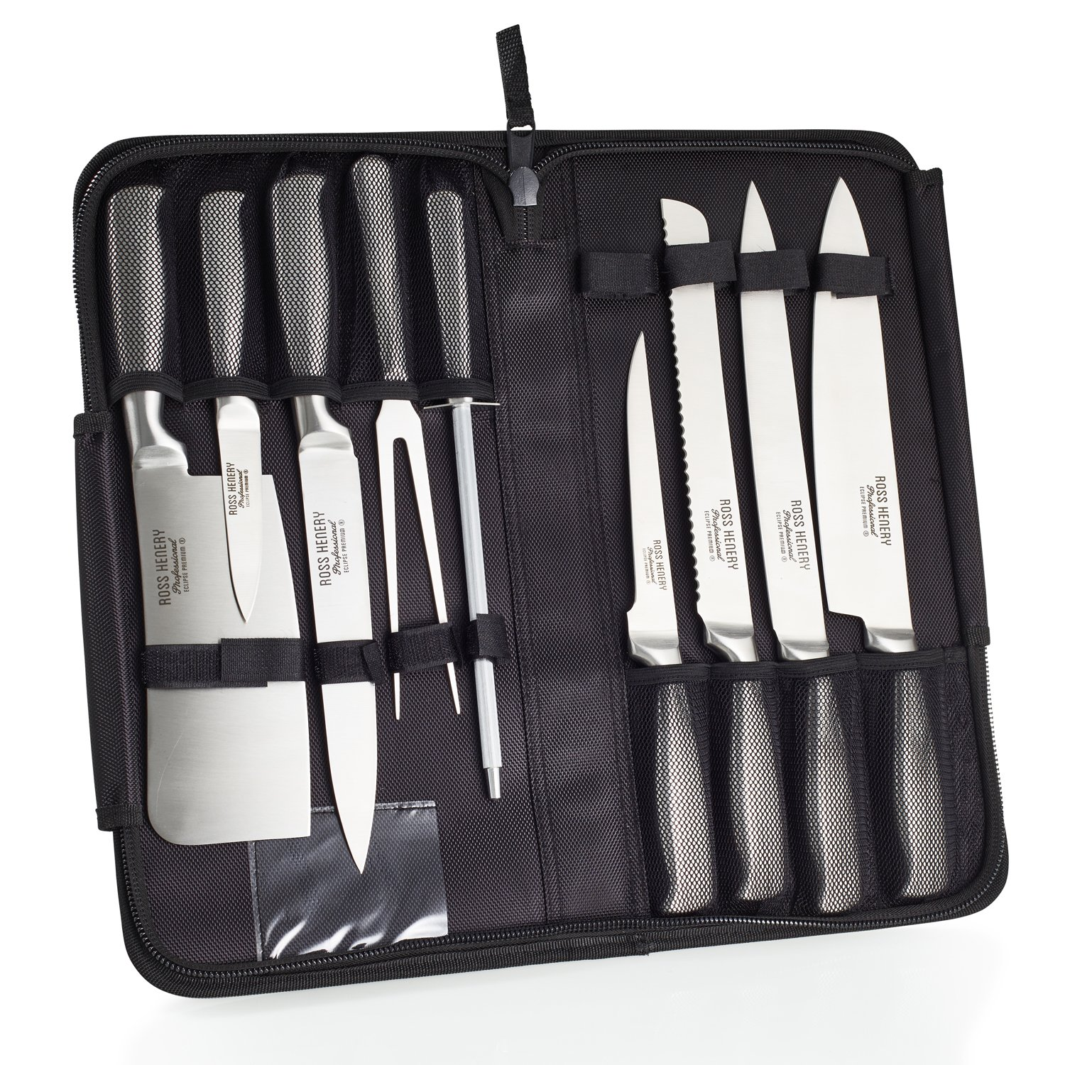 Ross Henery Professional Eclipse Premium stainless Steel 9 piece chefs knife set in carry case by  Ross Henery Professional (Image #2)