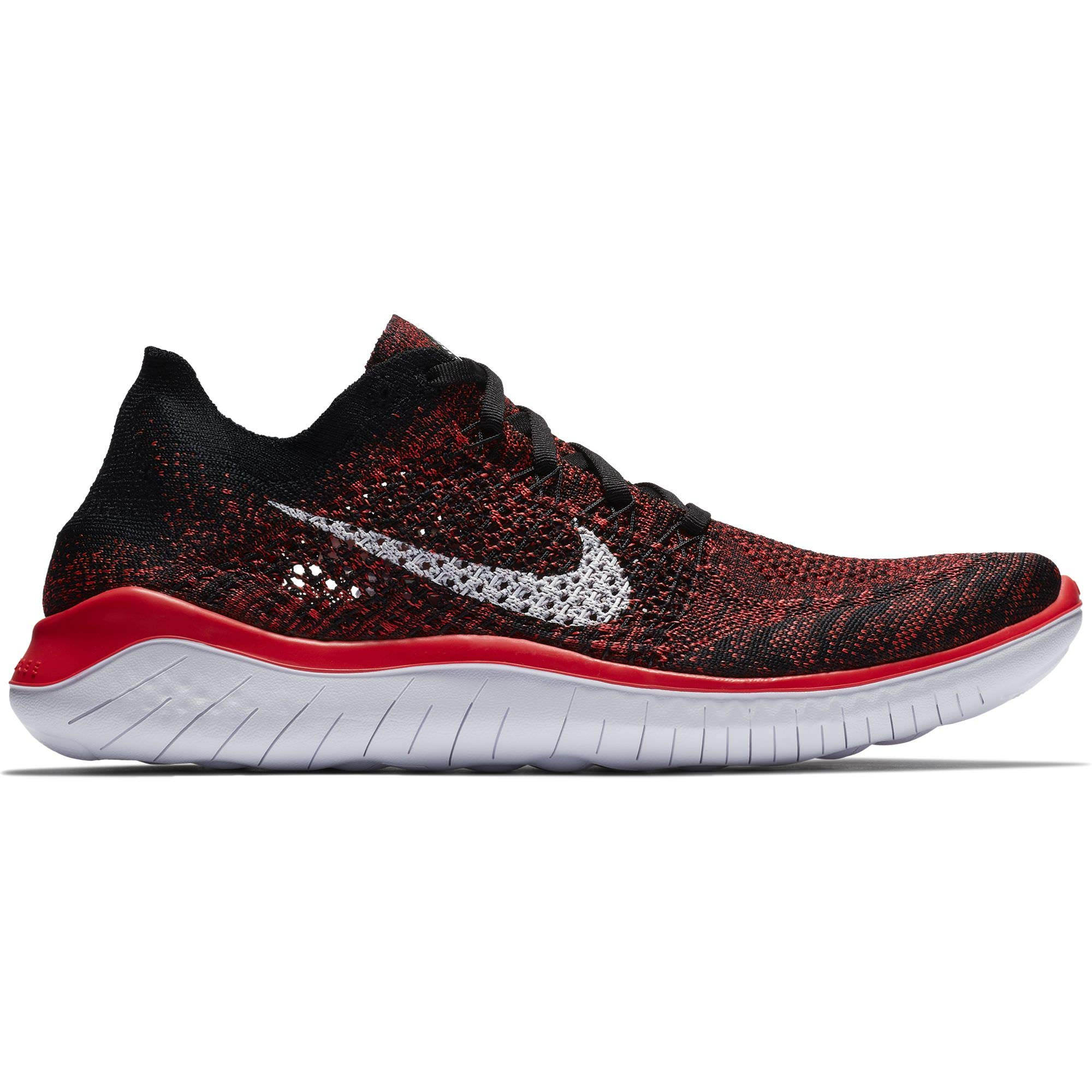 020a540d369c Galleon - Nike Men s Free RN Flyknit 2018 Bright Crimson White-Black 8.0