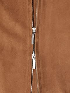 Goat Suede Blouson 114-34-0019: Khaki