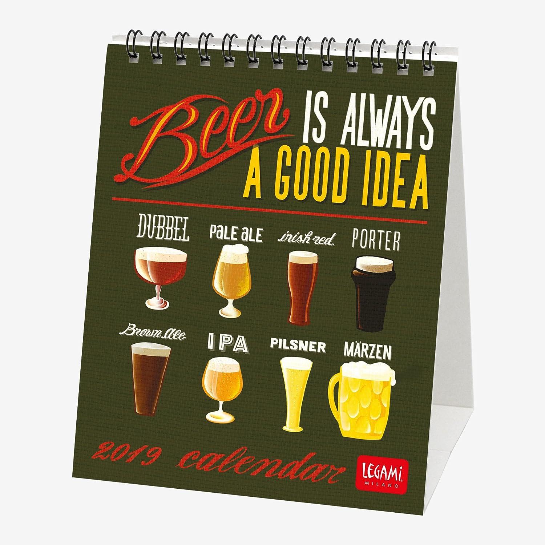 Legami Calendario Da Tavolo 2019, Dimensioni 12 X 14,5 Cm-Beer 8052783611715