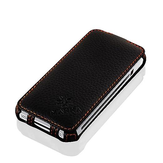 240 opinioni per Custodia iPhone SE in vera pelle nappa nera- Cover con apertura a Flip per Apple