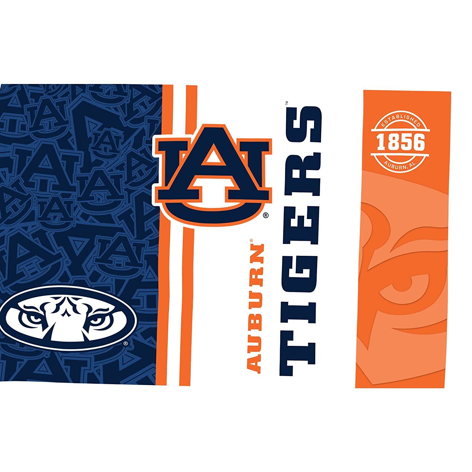 Tervis 1215245 Auburn Tigers College Pride Tumbler with Wrap and Orange Lid 16oz Clear