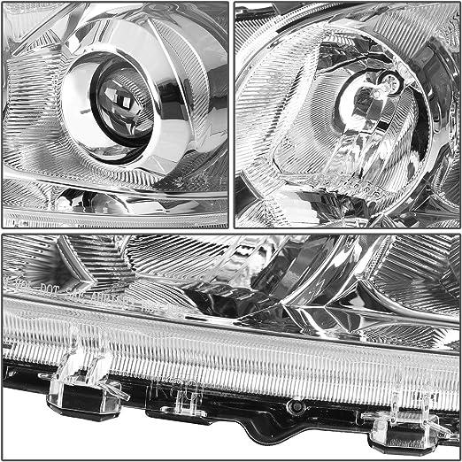 Driver and Passener Side DNA Motoring HL-OH-TRAV409-BK-CL1 Projector Headlight
