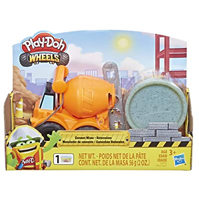 Play-Doh Wheels Mini Cement Truck Toy with 1 Can of Non-Toxic Cement Colored Buildin' Compound: Toys & Games
