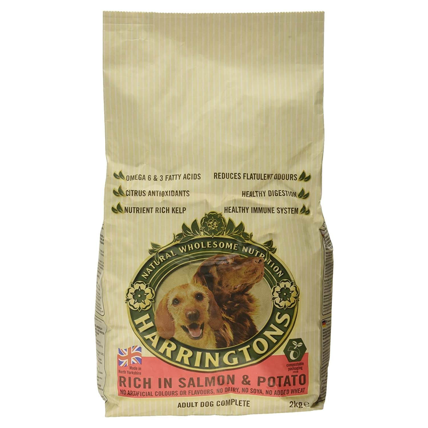 Harringtons Complete Dry Dog Food Rich In Salmon And Potato 2kg