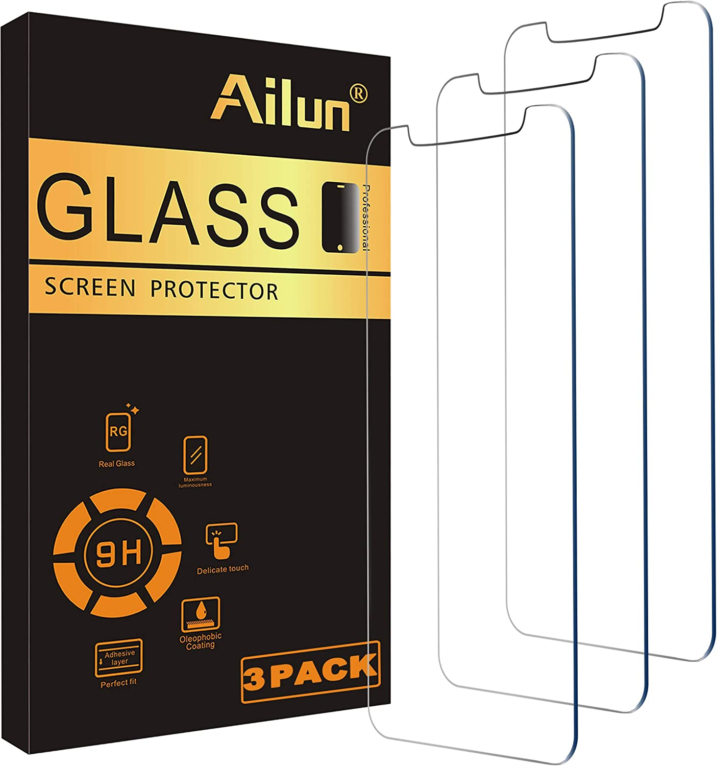 Ailun 6.1 Inch 3 Pack Tempered Glass Screen Protector $5.07 Coupon